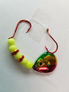 Two #3 Northland Gold Perch Baitfish blade worm harnesses.WHNRGCH3CPC 2 $5.95
