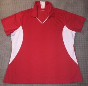 Lot of 25 Womens Sport Wick Polo Shirt XXL Sport-Tek Short Sleeve Red Micropique