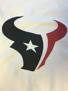 1 Houston Texans Quilt Block FOOTBALL LOGO 18X18 SEWING SQUARE Fabric Quilting $12.99