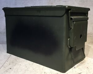 Vintage Stainless Steel Military Ammo Box 1000rds CRTG-9mm Ball M882 **EMPTY**