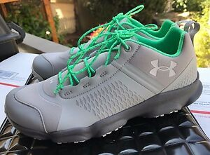 Under Armour Women's walking trail hiking running shoes Gray & Green Size 9