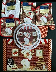 Kitchen Dining Linen Pasta Chef Theme Placemats Stove Top Covers Select: Items