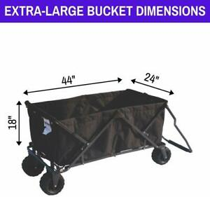 Impact Canopy Folding Wagon Collapsible Beach Utility Garden Cart (Choose Color)