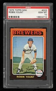 🔥🔥🔥 PSA 10 ROBIN YOUNT 1975 TOPPS MINI ROOKIE CARD RC 223 $40K