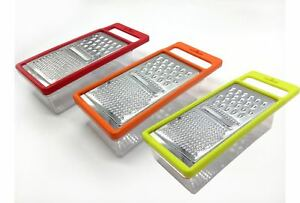 High Quality Kitchen Box Grater With Stainless Steel Plate, Mix Colors