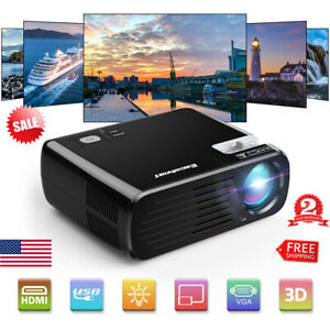 Excelvan 7000 Lumens HD 1080P Home Theater Cinema LED Projector TV SD VGA DVD