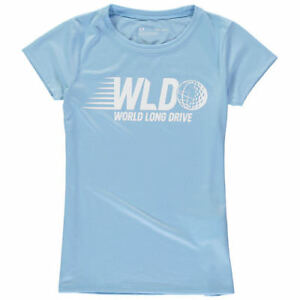 World Long Drive Under Armour Girls Youth Tech Performance T-Shirt - Light Blue
