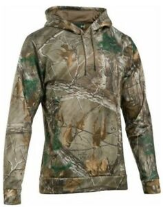 Under Armour Storm RealTree camouflage camo hoodie sweatshirt NWT boys' M YMD