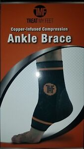 Copper Infused Compression Ankle Brace by Treat My Feet Plantar Fasciitis suppo
