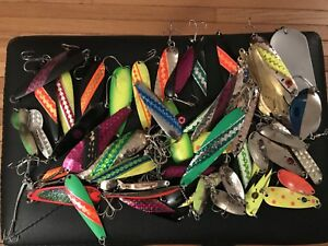 Huge Lot Vintage Fishing Lures Northern King 28 Evil Eye Little Cleo Salmon