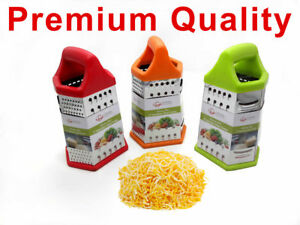 9 Inch Cheese Grater Shredder, Six Sided Grater, Red/Orange/Green