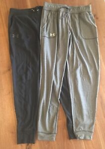 2 Pair Under Armour Women French Terry Jogger Ankle Pants Small UA Women's Girls
