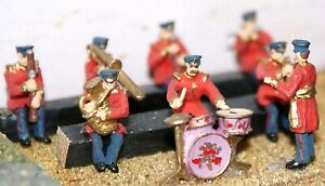 Seated Band Civil Uniform 8 F107 UNPAINTED OO Scale Langley Models Kit Figures $25.93