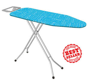 High Quality Ironing Board With Iron RestLarge 43 Inch Made In TurkeyBlue