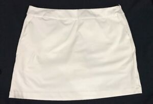 Nike Golf Women's Tournament Skort Size 14 Skirt Shorts White Pockets NWT