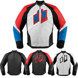 2015 Icon Hypersport Mens Leather Motorcycle Riding Street Pro Jacket