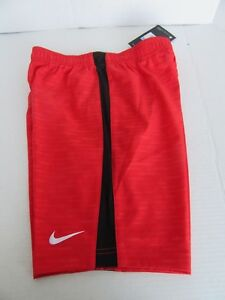 BOY GIRL NIKE DRY FIT FOOTBALL SOCCER RED BLACK SHORTS SIZE M CHILD