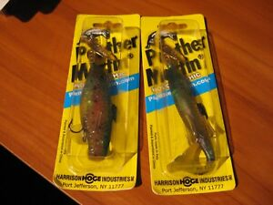 2 Panther Martin 4quot; Holographic Rainbow Trout 5 8 Oz Fishing Lure Gold Spinner