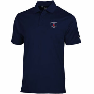 Los Angeles Angels Under Armour HeatGear Loose Fit Polo - Navy
