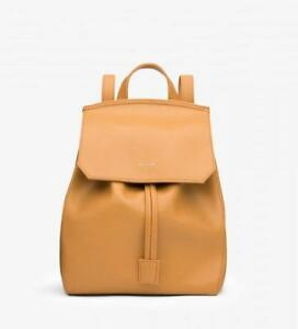 NEW MATT&NAT MUMBAI SMALL BACKPACK SAND VEGAN LEATHER FOR WOMEN