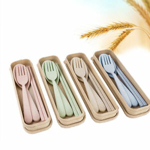 Camping,Travel silverware,Tableware Chopsticks Fork Spoon Set With Case 3PC