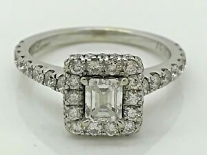 Neil Lane Bridal 1 38 CT TW Diamond Ring 14k White Gold Box & Papers Size 6.5