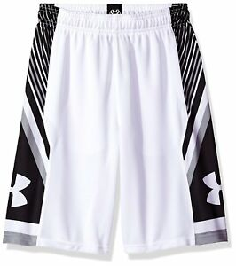 Under Armour Boys' Space the Floor ShortsWhite (100)White Youth Small