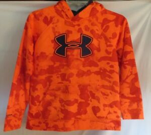 Under Armour Orange Camo Loose  Fit Storm  Hoodie Boys Youth XL  X Large