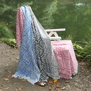 Authentic Pestemal Fouta Emma Damask Turkish Cotton Bath Beach Towel