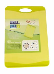Antimicrobial Kitchen Cutting Board,Non-Slip, Lime Green - 11.5 x 8 inch