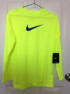 Nike Legend Boy's Dry-Fit Training Top Long Sleeve Shirt (Boy's Size L)