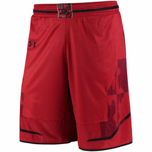 Maryland Terrapins Under Armour Performance Replica Basketball Shorts - Red