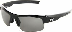 Under Armour Igniter Sunglass Shiny Black Frame W Gray Lens.
