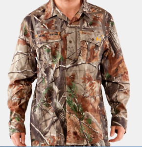 Men's Under Armour Camo Hunting Performance Long Sleeve Shirt NWT Large 1227565