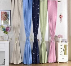 Cloth Curtains For Kids Bedroom Living Rooms Blackout Drapes Stars Design Decors