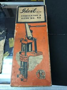 Vintage Lyman Ideal Lubricator & Sizer No. 45 Three Sizer Dies And Top Punches