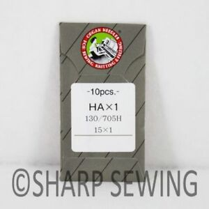 10 ORGAN 15X1ST HAX1ST EMBROIDERY LARGE EYE HOME SEWING MACHINE NEEDLES 15X1 $6.95