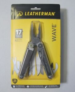 LEATHERMAN 830039 Wave 17 Multi Tool Cutter with Sheath Silver