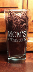 Mom's Whiskey Glass Personalized for Birthday's Housewarming Kitchen Accessory