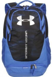 Under Armour Hustle II Backpack Storage Compartments School Hiking Blue