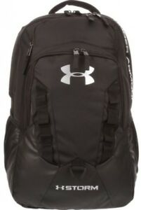 Under Armour Recruit Backpack Storage Pocket School Water Resistant Hiking Black