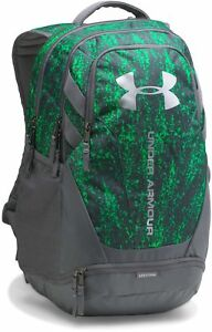 Under Armour Mens UA Hustle 3.0 Backpack Water Resistant Storage Pockets Travel