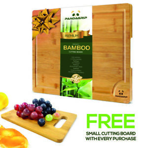 Extra Large bamboo cutting board juice groove best kitchen wooden chopping board