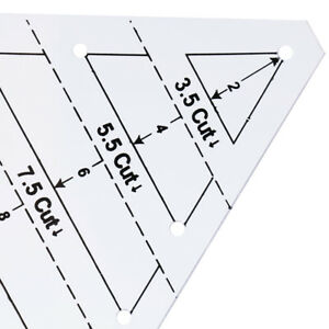 Multifunction Triangular Ruler Quilting Sewing Ruler Quilter Patchwork Craft $8.19