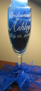 Bride & Groom Reception Personalized Wedding Accesory Toasting Flute Glass