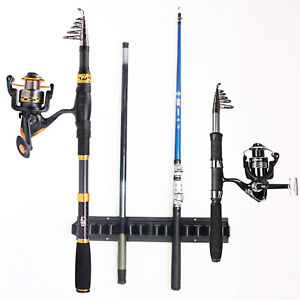 Fishing Rod Rack Stand Fishing Holder Holds 10 Fish Rods Wall Storage Stand