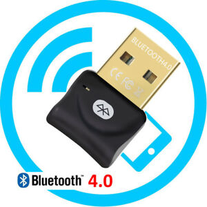 PC USB to Bluetooth Wireless V4.0 Adapter Dongle for Laptop Speakers Headsets US