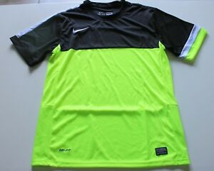Nike Black White and Neon Soccer Jersey and Shorts Team Kit Lot 19