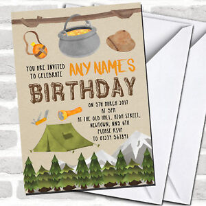 Outdoor Camping Children#x27;s Party Invitations