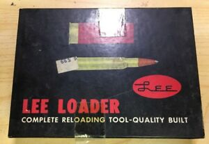 Vintage Lee Loader Compleate 219 Zipper RARE! Circa 1960 Never Used.